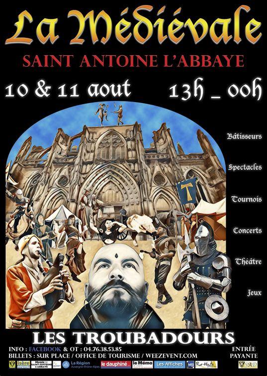 Affiche Fête médiévale St Antoine l'Abbaye